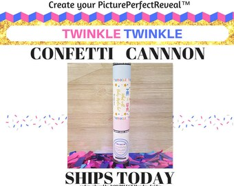 Twinkle Twinkle Little Star Gender Reveal Confetti Cannon | Gender Reveal| Gender Reveal Ideas| How We Wonder What You Are| Confetti Cannon