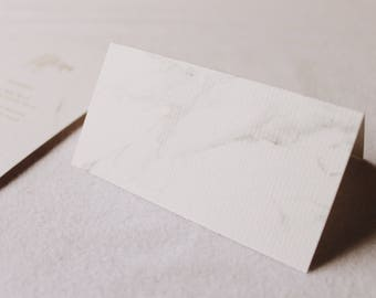 Marble - Place Cards for Weddings & Events (With Fold)