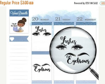 On Sale Eyelash and Eyebrow Appointment Stickers, Eyebrow stickers, beauty stickers, Eyelash stickers, appointment stickers
