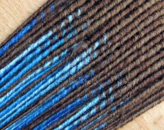 20 Double Ended Dread Extensions (40 dreads total) - Brown and Blues - READY TO SHIP
