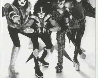 KISS Band Portrait  Rare Poster