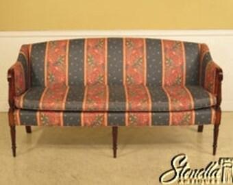 41526E: KITTINGER Sheraton Inlaid Mahogany Sofa