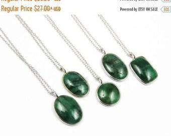 20% Off Genuine Emerald Necklace, Emerald Necklace, Emerald Pendant Necklace, Green Gemstone Necklace, May Birthstone, Emerald Green Neckla