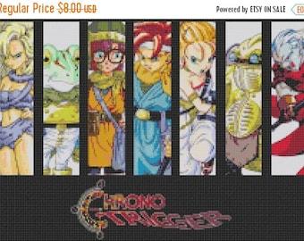 """chrono trigger Counted Cross Stitch chrono pattern chart pdf file embroidery needlepoint needlecraft -15.71"""" x 11.07""""- L806"""