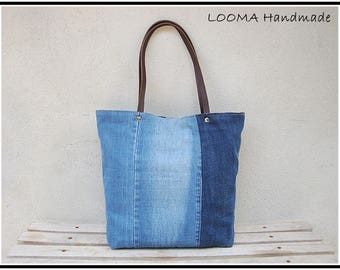 jeans tote bag, tote bag, denim, denim Jeans bag, beach bag, canvas bag, recycled jeans, shopping bags, recycled denim bag