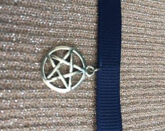 Navy Pentagram Choker