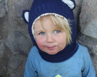 Blue Bear Cowl/Hat