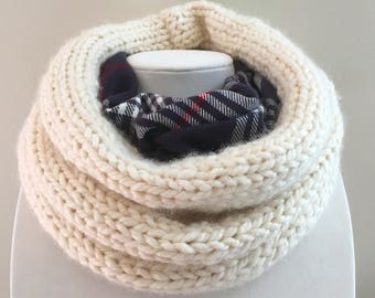 Flannel lined scarf- wool