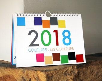 Bilingual Calendar 2018: COLOURS