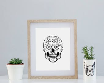 Sugar Skull Limited Art A4 Print