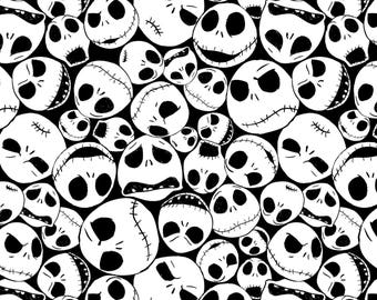 Nightmare Before Christmas Fabric Packed Jack Tim Burton Film Jack Skellington Cotton Fabric