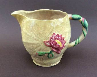 Vintage Carlton Ware water-lily jug or pitcher