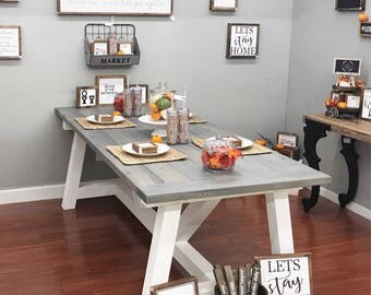 Farmhouse Dining Room Tables farmhouse table | etsy