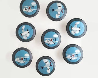 Baby Aviator Set of 8 Knobs