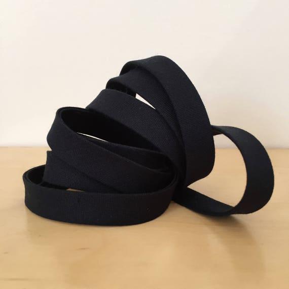 "Bias Tape- Kona Pepper cotton 1/2"" double-fold binding- Soft black- 3 yard roll"
