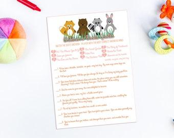 Animal Baby Shower Game Printable- Children's Book Quotes- Gender Nuetral- DIY Digital Download