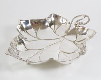 Antique 1900s WMF Art Nouveau silver plated cake basket or fruit bowl