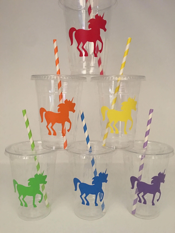 Rainbow Unicorn Party Cups Unicorn Party Cups Unicorn