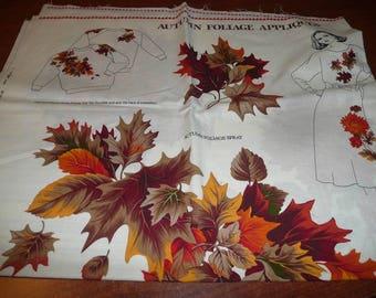VIP CranstonAutumn Foliage Applique Bonus Canvas Bag White Color