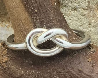 Handcrafted Sterling Silver Love Knot Ring.