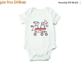 20% OFF SALE Mars rover baby bodysuit, space bodysuit, geeky baby clothes, baby boy clothes, baby girl clothes, baby shower gift, baby rompe
