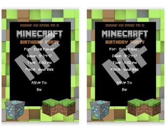 Minecraft Birthday Party Printable Package