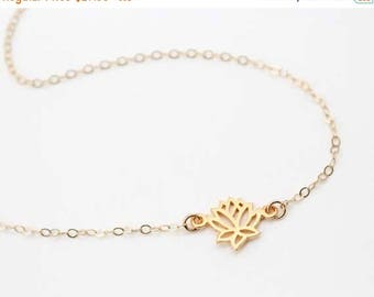 ON SALE Lotus Necklace / Gold Lotus Flower Necklace / Sterling Silver Lotus Necklace / Gifts for yogis / Yoga Jewelry / Zen Necklace / Boho