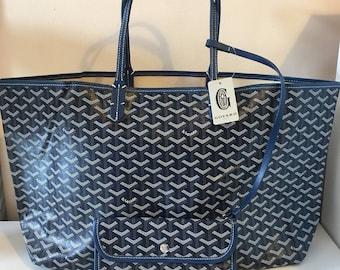 Navy large tote bag