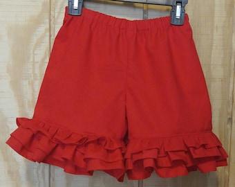 Baby/Toddler/Girl Ruffle Shorts, Summer shorts, Triple Ruffle Shorts, Back to School