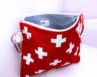 Large First Aid Bag, 9.75 x 8.50, Heavy Ripstop Lining, Heavy Duty First Aid Pouch, Travel First Aid Pouch, Back to School Bandage Bags