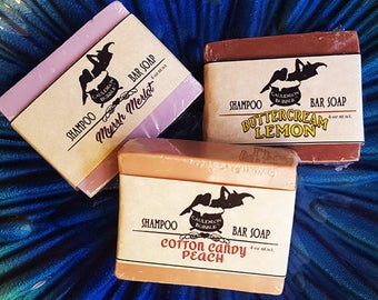 Shampoo Bar Soap - Choice of Scents! - Handcrafted Vegan Glycerin - Love Potion Magickal Perfumerie