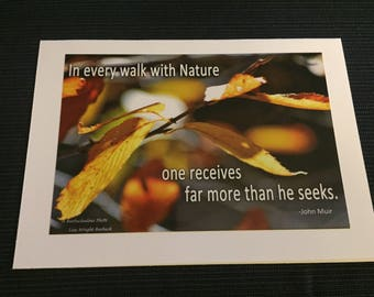 A walk with Nature Greeting Card