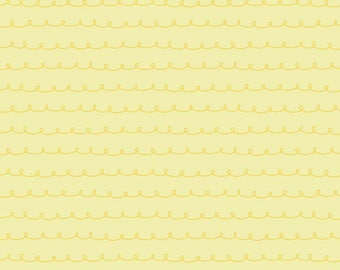 1 Yard Little Dolly by Elea Lutz for Penny Rose Fabrics 6365 Yellow Curly