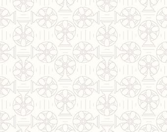 1 Yard Bee Backgrounds by Lori Holt for Riley Blake Designs- 6390 Cool Gray