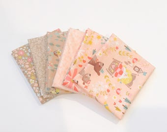 Fat Quarter Bundle Golidlocks by Jill Howarth for Riley Blake Designs- 6 Fabrics