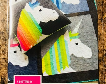 Lisa the Unicorn Pattern by Elizabeth Hartman- Includes Pillow Pattern and 2 Quilt Size Pattern Options
