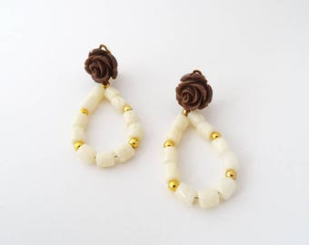 Ibiza ivory earrings