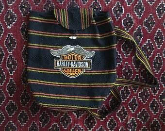Vintage Harley Davidson Drawstring Backpack