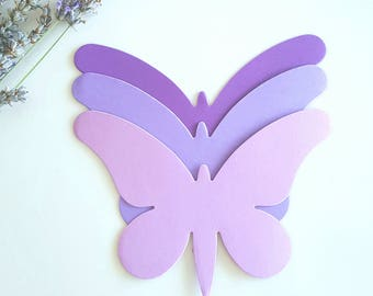 Large Butterfly die cuts(A),Purple butterfly die cuts,Purple butterfly cutouts,Paper Butterfly,Wedding Butterfly,Lavender butterfly die cuts