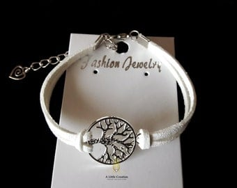 Suede symbol bracelet Tree of Life