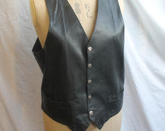 Leather waistcoat REF 813
