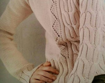 Pure cotton asymmetrical sweater