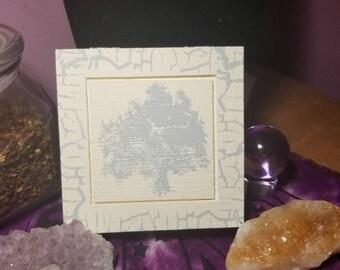 Rune Box, Hand Painted Wooden Rune Box, Jewelry Box, Storage or Display Container, Crystal Keepsake, Rune Box, Witch Box, Tree Box