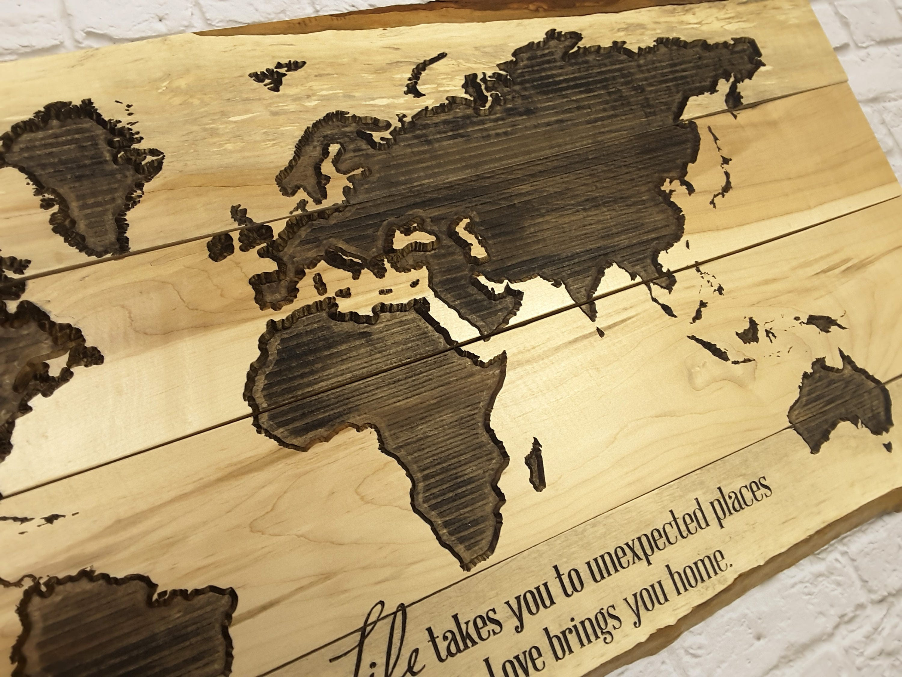 World Map Wall Art, Travel Map, Map Art, Gifts for Travelers, Map ...