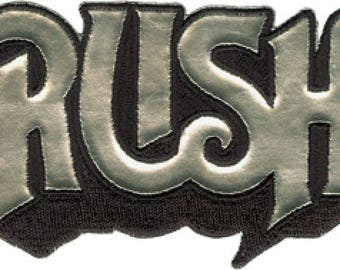 Rush Chrome Logo Embroidered Patch / Iron On Applique, Officially Licensed