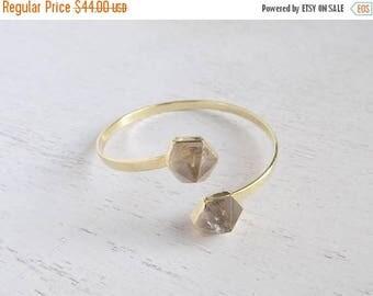 SUMMER SALE Crystal Bracelet, Crystal Bangle Bracelet, Gold Adjustable Bangle, Crystal Point, Crystal Jewelry, Stack Bracelet, Gemstone Brac