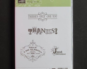 "Stampin' Up!, ""Vintage Verses""  Limited Edition"