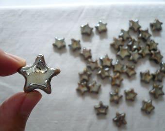 1 piccola perlina stella ceramica raku riflessi metallici oro bronzo orecchini eleganti collana arte braccialetto ragazza gioiello prezioso