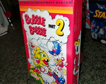 Bubble Bobble Part 2 NES Nintendo Entertainment System Reproduction Box! Best Repros in the world!