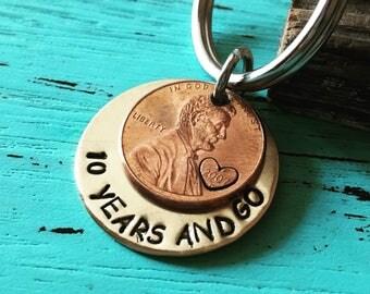 Personalized 10th anniversary gift for boyfriend gift for men personalized key chain, 10 year anniversary gifts for men, Personalized gifts